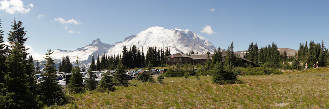 The Sunrise Visitor Center at Mount Rainier National Park Wonderland Trail