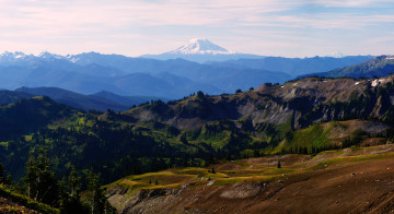Mount Adams from Panhandle Gap - The Wonderland Trail Book